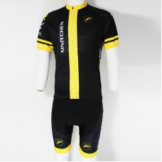 2014 Black And Yellow Cycling Jersey Bike Short Sleeve Sportswear Cycling Clothing +Shorts CD9008