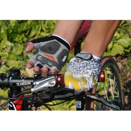 2014 Fashion Cycling Bike Bicycle Hexagon 3D GEL Washable Outdoor Sports Half Finger Glove For Men & Women Free Shipping