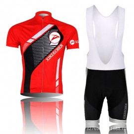 2014 Red And Black Cycling Jersey Bike Short Sleeve Sportswear Cycling Clothing +Bib Shorts CD9007