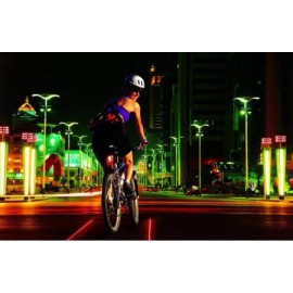 Cycling Bike Bicycle 2 Laser Beam and 5 LED Rear Tail Light 3 Modes Lamp Safety