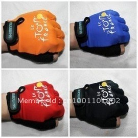 Cycling Bike Bicycle Half Finger Gloves One Size Red Black Orange Blue M L M XL Free Shipping