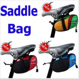 New Fashion Outdoor Cycling Bike Bicycle Saddle Bag Back Seat Tail Pouch Package Blue 4 Colors Choice, Free Shipping