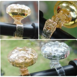 New Gold Upscale Beautiful Bike Bicycle Handlebar Rotation Bell Ring Loud Horn
