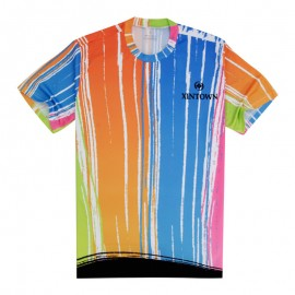 Quick-drying Breathable Sports Running Cycling Bike Jersey Round Top 3D T-Shirt CC3026