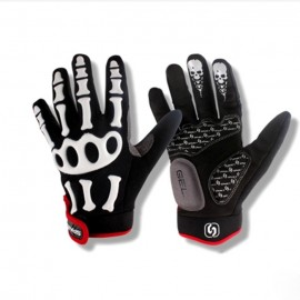 Skeleton Man Full Finger Gloves Cycling Gloves bike gloves bicycle gloves M-XL