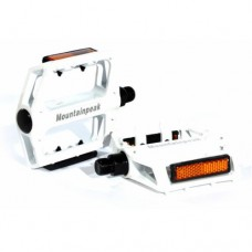 "White New Universal Bike Bicycle Foot Tread Aviation Aluminum Pedals 9/16"" Axle"